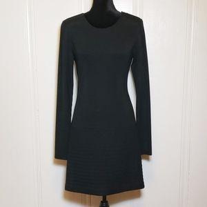 Theory Black Mimi Q Long Sleeve Dress